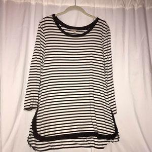 41 Hawthorne black & white stripe top